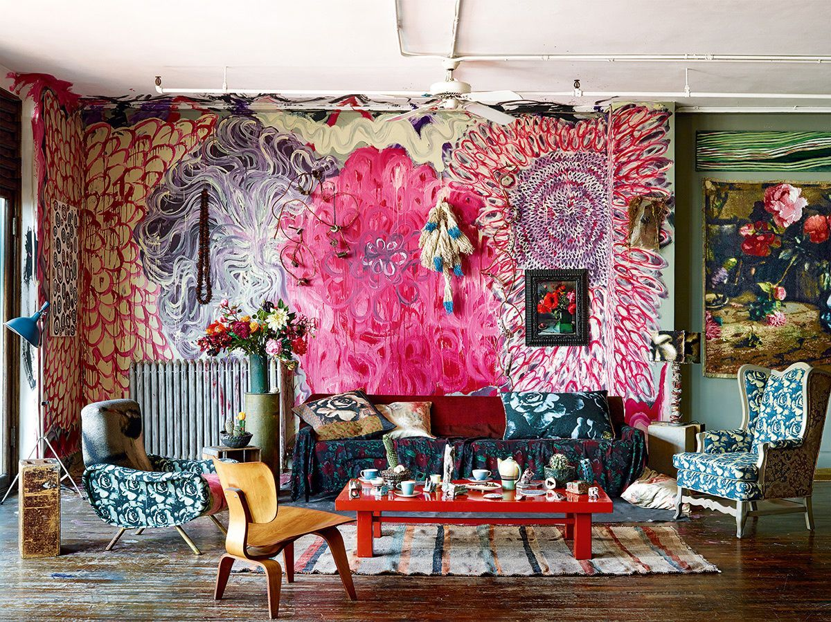 Рекомендуемые цвета для росписи стен богемской среды