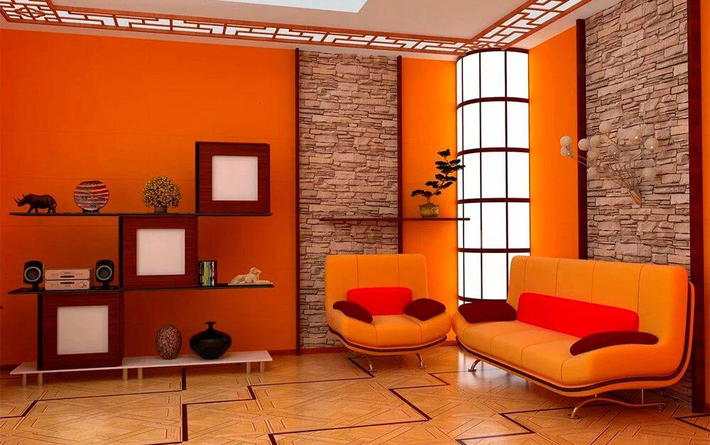 Оранжевые украшения для дома: цвет положительной энергии