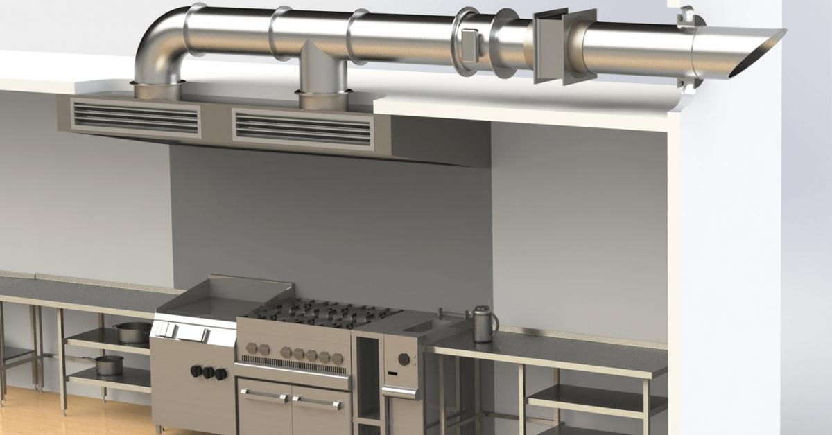 вентиляция в коммерческой кухне